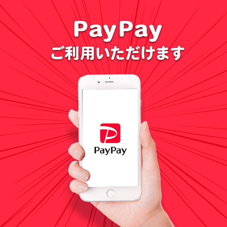 PayPayご利用いただけます