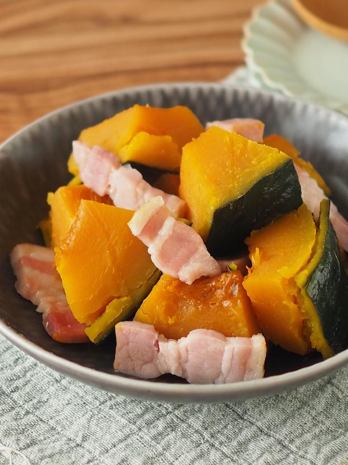 かぼちゃとベーコンの洋風煮