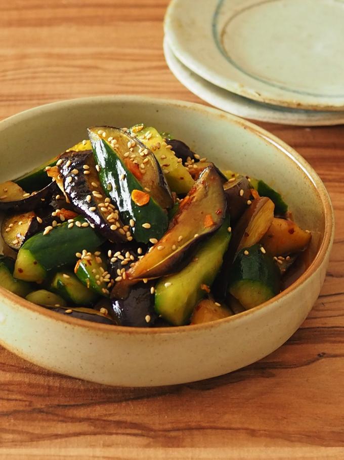 なすときゅうりのピリ辛中華サラダ