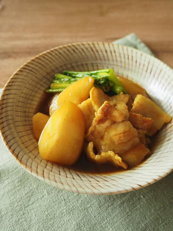 かぶと豚の和風カレー煮